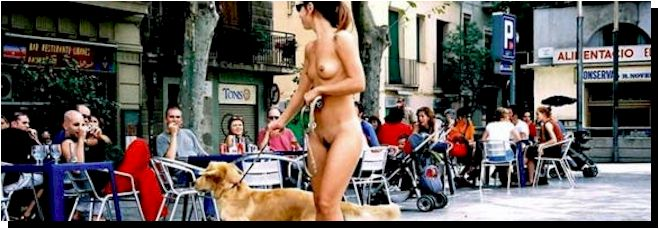 Naked Artist in Public
